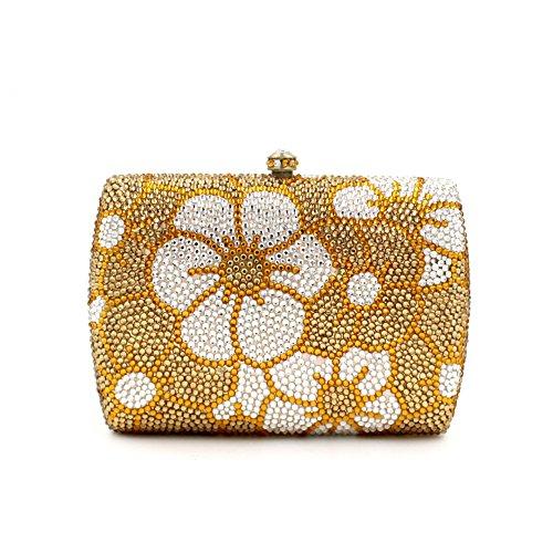 Damen Abendtasche Diamant-Inlay Diamant-Mappe Hand Bankett Tasche Kristall bohren voll picture color