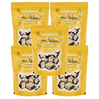Harveys Crunchy & Creame Gourmet Delicacies Cream Wafer Biscuit 110 g Pouch Pack - Vanilla Flavoured (Pack of 5)