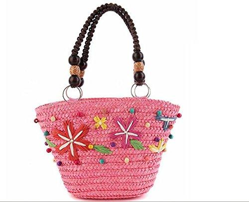 GBT Gewebte Tasche Handtasche Kosmetiktasche Pink