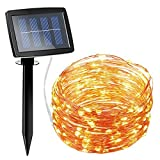 Amir 150 LED Solar Powered String Lights, 2 Modes Steady on/Flash Christmas Lights - Best Reviews Guide