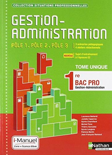Gestion-Administration Pôle 1 / Pôle 3 - 1re Bac Pro
