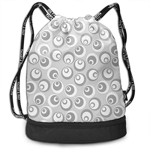 Cupsbags Circles Like Nested Eyeballs Lightweight Portable Drawstring Bag Backpack Bundle Backpack