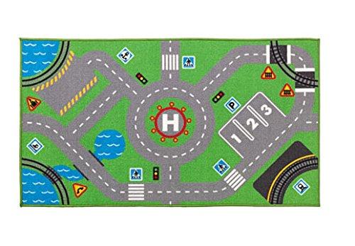 Ciudad & Ciudad alfombra alfombra para coches y trenes-Durable alfombra -75X 133cm-ideal...