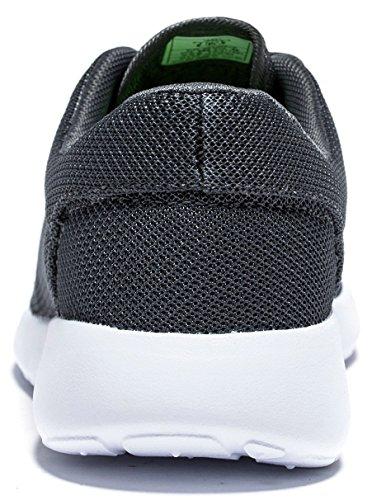 Viihahn Hommes Respirant Lace-Up Walk Exercice Sneakers Sport De Course Chaussures Gris