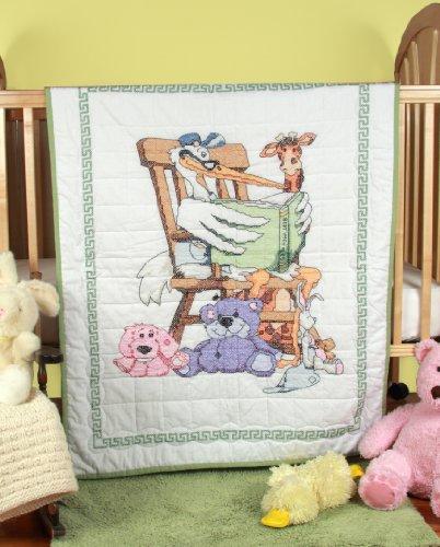 Fairway Prägung Baby Quilt Top Lesebrille Storch Design, 91,4x 127cm -