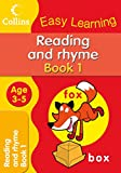 Reading and Rhyme Ages 3-5 Book 1: Collins Easy Learning (Collins Easy Learning Age 3-5)