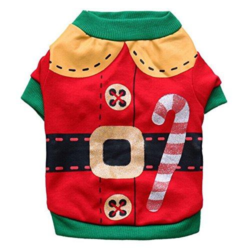 (PanDaDa Weihnachten Kleine Haustier Kleidung Hund Kleidung Hund Shirt Kleidung für Haustier Welpen T-Shirt Hunde kostümiert Katze Tank Top Weste)