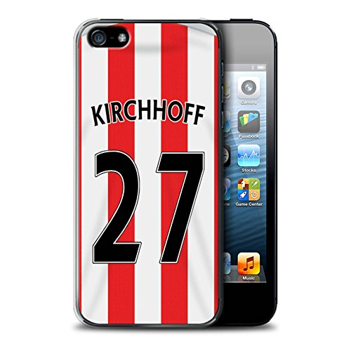 Offiziell Sunderland AFC Hülle / Case für Apple iPhone SE / Pack 24pcs Muster / SAFC Trikot Home 15/16 Kollektion Kirchhoff