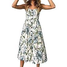 Damark(TM))) Vestidos Mujer Casual Vestido de Verano Largo Maxi Falda Mujer