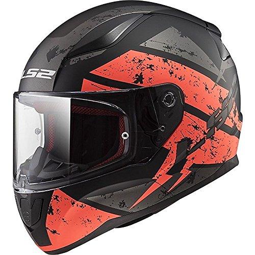 LS2 FF353 RAPID Casco Integrale Moto Scooter Motorino Caschi Integrali - Nero/Arancio - M(57-58cm)