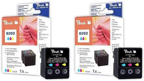 Peach Pi 200-298 d'encre Couleurs-Cartouche d'encre pour Epson Cartouche T014 T052 S020089 S020191, (Lot de 2)