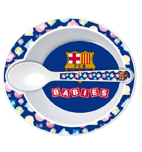 F.C. Barcelona - Set cuenco y cuchara microondas, 15 cm (Seva 7109056)