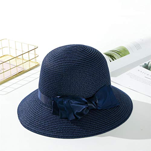 ToDIDAF ZH07 Kentucky Derby Hat for Women, Organza Church Dress, Bowler Hat, Sun Hat, Wedding Hat, Fascinator Bridal Tea Party Shopping Formal Occassion Outdoor Activities, 56-58CM (Navy) Old Navy Bow Tie