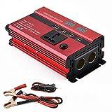 600W Inversor De Energía DC 12V A AC 220V Convertidor del Coche De con 4 USB 1...