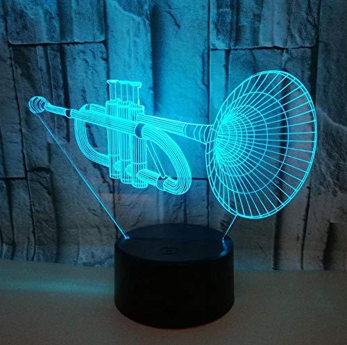 3D Lampe Nachtlicht Stimmungslicht Klavier 7 Farben Niedliche Cartoon-Form Touch Switch Acryl Flat & Abs Base Deko Besten Für Kinder Spielzeug Geschenk Haus Dekoration