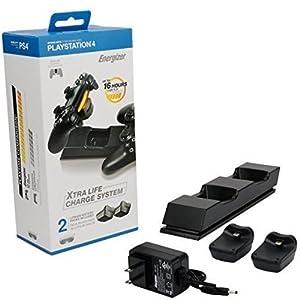 Energizer Ladestation extra Life mit Zwei Akkus Controller PS4