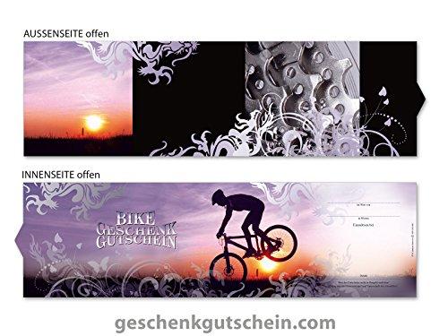 25 Stk. Booklet-Geschenkgutscheine SP702 für Radsport und Fahrradzubehör