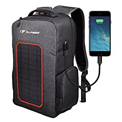 ALLPOWERS Solar Rucksack 7W Solarpanel, Solar Ladegerät Powerbank 6000mAh Akku Backup Laptop Rucksack Solarrucksack für Camping, Wandern, Reise, iPhone, iPad, Huawei, Outdoor