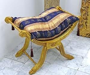 Louisxv barocco sedia forbici banchetti in stile antico sgabello