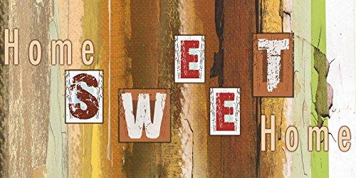 Artland Poster oder Leinwand-Bild gespannt auf Keilrahmen mit Motiv W. L. Trautes Heim Statement Bilder Sprüche & Texte Schrift Kunst Braun D8TT