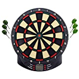 HENGMEI Elektronische Dartscheibe Dartspiel Dartautomat Dartboard mit 6/12 Dartpfeilen, Spielen und Varianten