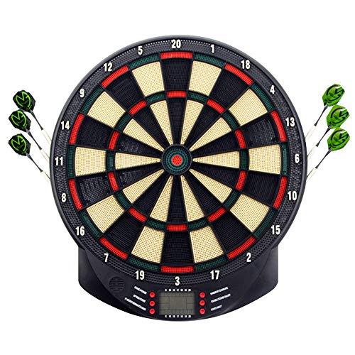 HENGMEI Elektronische Dartscheibe Dartona Dartspiel Dartautomat Dartboard mit 6 Dartpfeilen, 26 Spielen und 70 Varianten (Modell A)