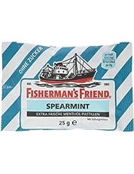 Fisherman's Friend Spearmint Multipack mit 3 Beuteln Menthol und Spearmint, 75 g