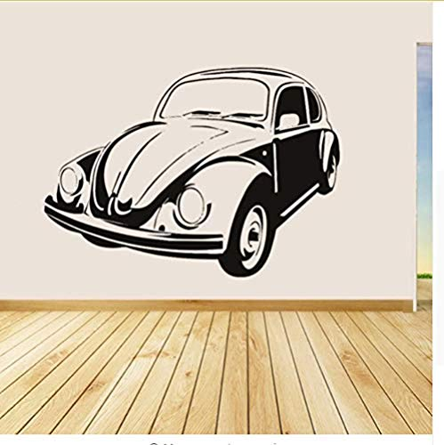 Adhesivos de pared autoadhesivos Vw Beetle Vinyl Wall Decals Estilo retro  Desmontable Decoración del hogar Sala de estar Art Mural Decals Stickers