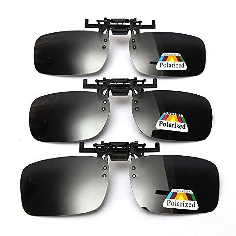 Cosprof Polarized Lenses Flip-Up Clip On Sunglasses UV400 Driving Outdoor Glasses [Anti-glare]Driving/Fishing Eyewear, Men & Women (Small)