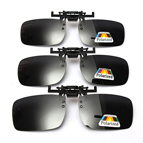 Cosprof Polarized Lenses Flip-Up Clip On Sunglasses UV400 Driving Outdoor Glasses [Anti-glare]Driving/Fishing Eyewear, Men & Women