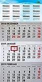 Idena 11326–3mois de calendrier 2019, FSC Mix, grand, env. 30x 49cm