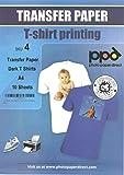 PPD A4 Carta di Trasferimento a getto d'inchiostro Per Magliette Di Colore Scuro x 10 Fogli