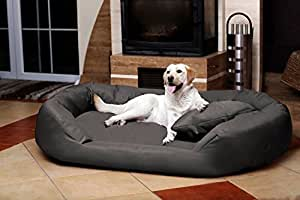 Petitude Reversable Dual Ultra Soft Ethenic Designer Velvet Bed For Dog & Cat - Xxl Grey