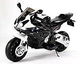 RIRICAR BMW S 1000 RR Moto Elettrica cavalcabile Giocattolo per Bambini a Batteria, autorizzata, Ruote Morbido Eva, Telaio Metallo, 2 Motori, Batteria 12V