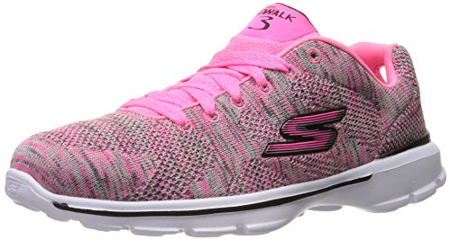 Skechers Kinder GO Walk 3 Contest Sneakers Kinderschuhe Walking Goga mat HPBK