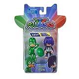 #1118 PJ Masks bewegliche Spielfiguren Gecko und Kevin ca. 8 cm groß - Mask Action Figur Kinder Spielzeug Superheld Sammelfigur Set