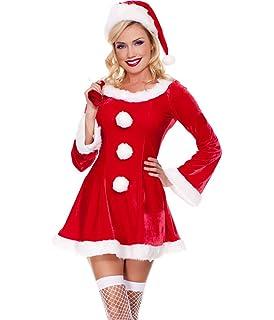 6160d7dc71d9 PROMOTION  Costume mère noël déguisement complet pas cher (wk-75 ...