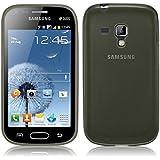 TBOC® Funda de Gel TPU Negra para Samsung Galaxy Trend Plus S7580 de Silicona Ultrafina y Flexible