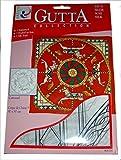 ARTY'S GUTTA COLLECTION - Motiv: Carrousel - Crepe de Chine 5, ca. 90x90cm, rollierte Ränder (Gutta schwarz)