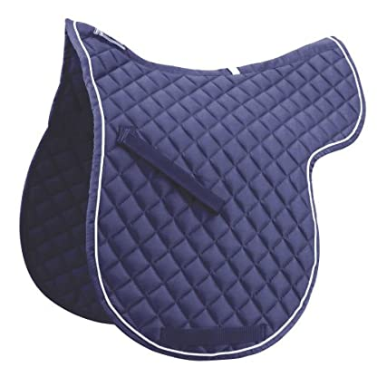 Roma Grand Prix High Wither Numnah Navy Cob 1