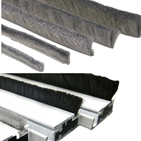 Boudin de porte Joint brosse courants d'air Blocker Brosse Butoir de froid pour porte ou fenêtre Porte Brosses Joint de porte brosse Brosses Joint autoadhésif ou pour insérer
