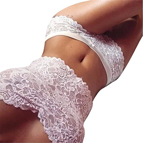 Unterwäsche Damen,Sannysis Spitze Tube Oben Slip Unterwäsche Set (Weiß, (Unterwäsche Batman Damen)