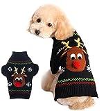 Xiaoyu sudadera de perro ropa de mascotas para perros reno de navidad, negro, XXS