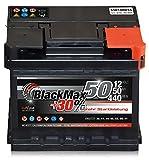 Autobatterie 12V 50 Ah 440 A/EN BlackMax+30% ersetzt 36 41 44 45 52 55 Ah