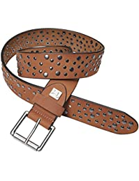 PELPE- Cinturón ''Morrison'' de piel con tachuelas para mujer. (negro, marrón y cuero)