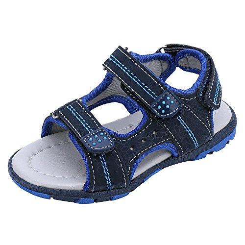 QinMM Sommer Kinder Kinder Schuhe Jungen Mädchen Strand Laufschuhe Sport Sandalen Schuhe Turnschuhe Grau Blau Grün 19-24 (22, Blau)