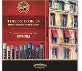 KOH-I-NOOR TOISON D'OR 8514 Weiche Künstler-Pastellkreiden (24 Stück)