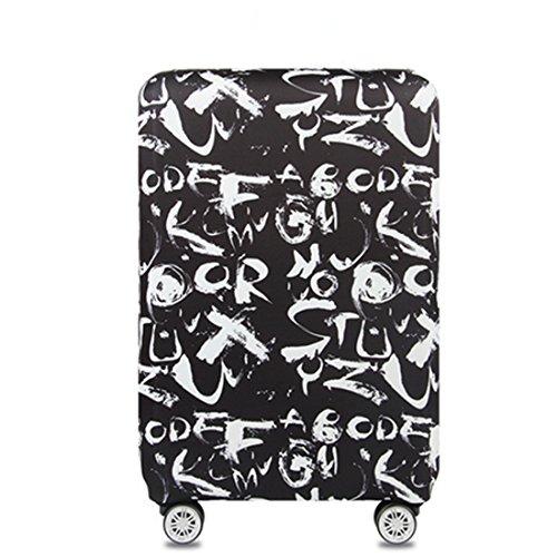 Bestja Elastisch Kofferschutzhülle, Kofferhülle Reisekoffer Hülle Koffer Schutzhülle Luggage Cover mit Reißverschluss für 18-32 Zoll Koffer (L)