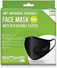 Bodyguard PM2.7 + N95 Antimicrobial Reusable Anti Pollution Mask with Replaceable Filter - 1 Unit