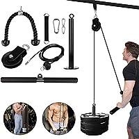 HJUI Sistema De Polea De Elevación, Sistema De Cable, Máquina De Bricolaje, Equipo De Fitness, para Entrenamiento De Bíceps, Tríceps, Hombros Y Espalda, Curl De Bíceps.